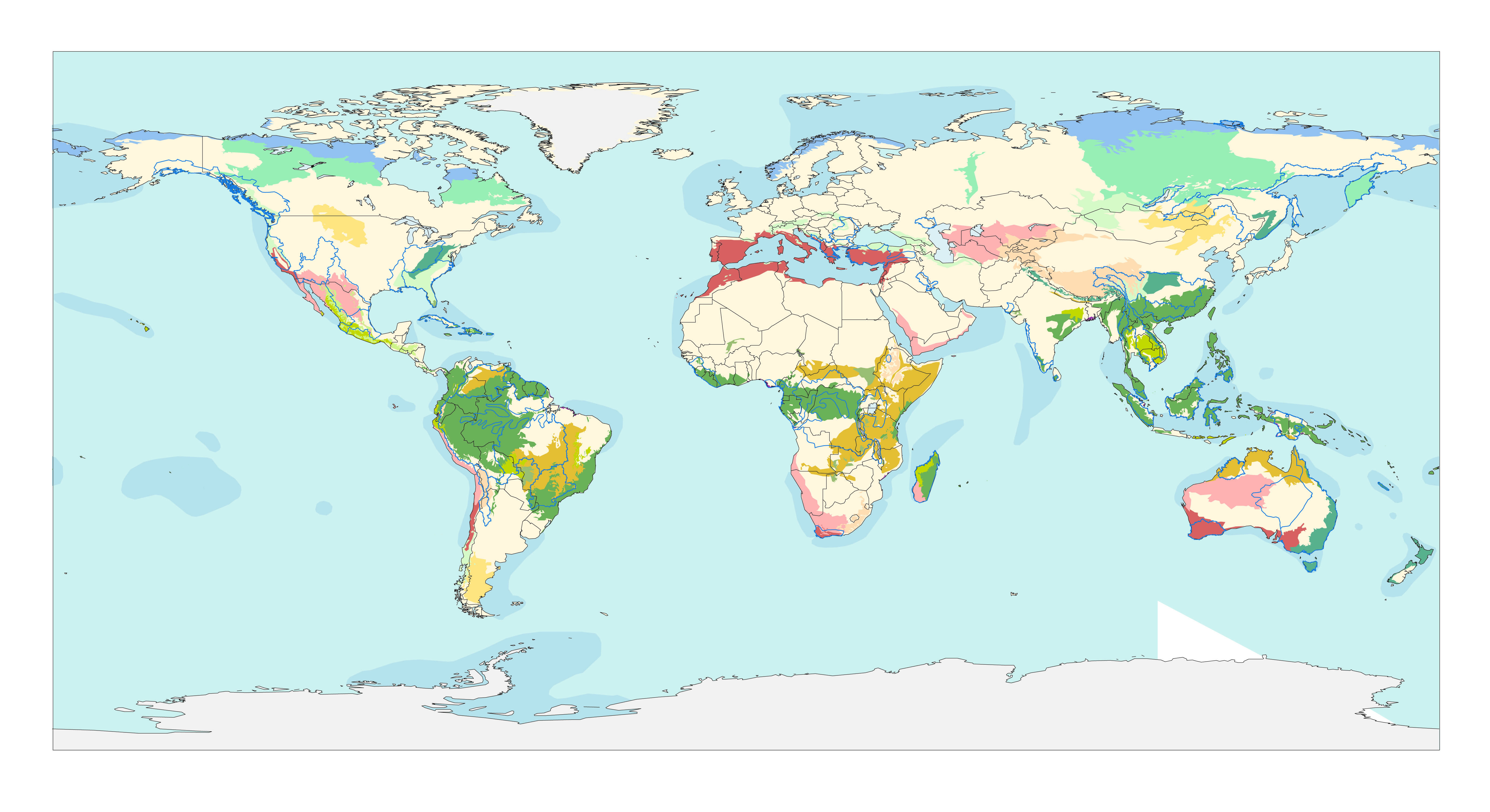 G Maps  WWF - Map of us forest regions