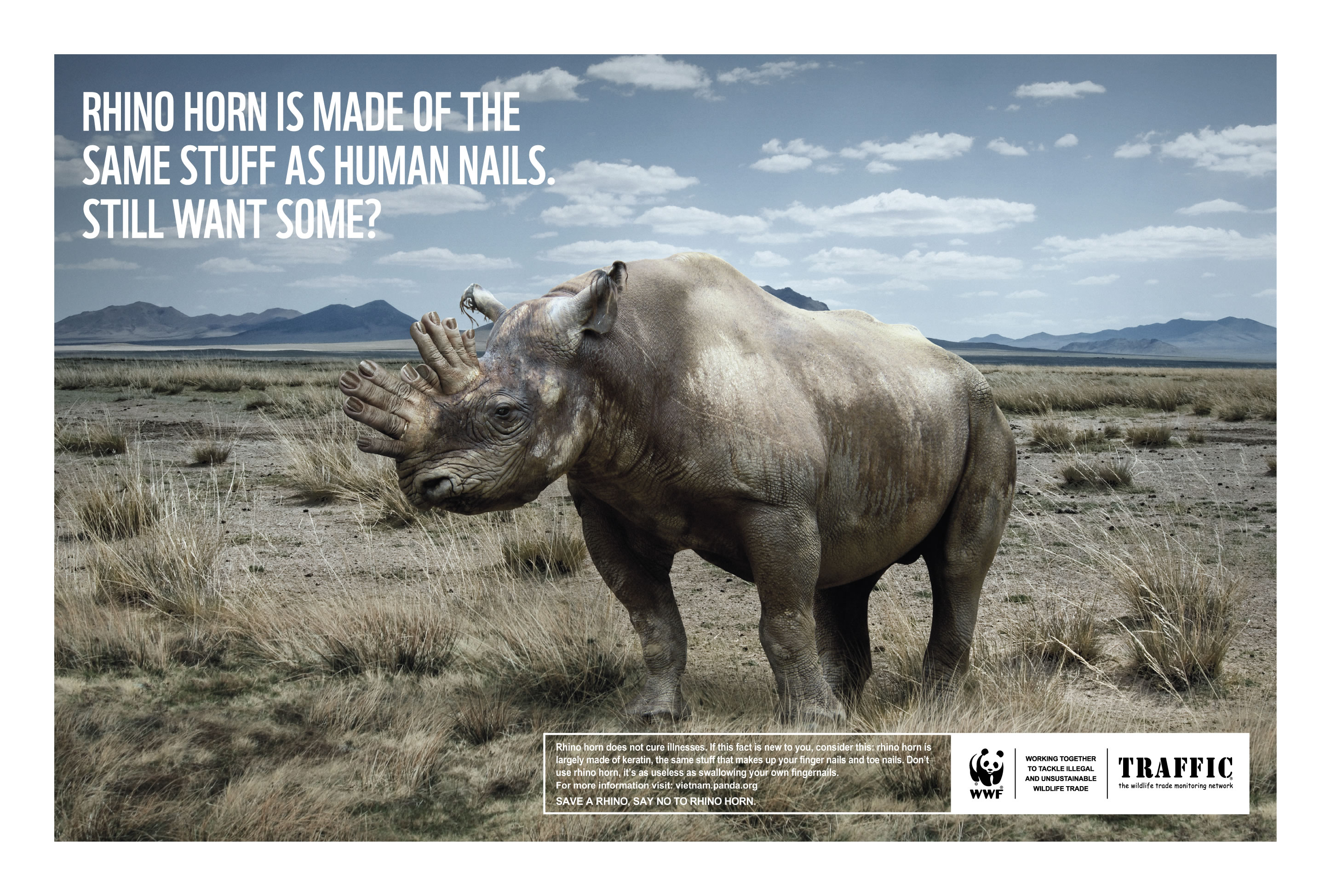 """Say NO to rhino horn"" campaign 