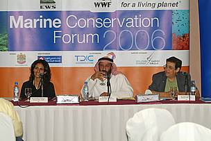 Press conference to announce the Marine Conservation Forum (September 11 - 14, 2006, Abu Dhabi)