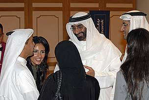 Emirates Wildlife Society Chairman with Board Members and Director EWS-WWF at the Marine Conservation Forum, Abu Dhabi, on the opening day September 11, 2006