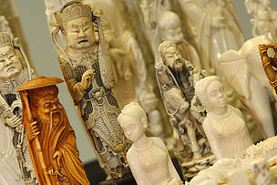 Ivory items confiscated in Hong Kong