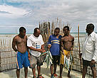 A loan from WWF has enabled fishermen in Mafia Island Marine Park, Tanzania, to build fence traps that catch fish in a sustainable manner.