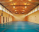 FSC timber from well-managed forests has been used for this multi-functional gym hall.