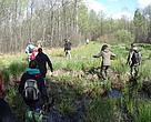 Volunteers in Bondarivske swamp