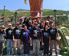 The WWF Bhutan team at the Earth Hour river clean up