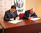 From left-side Mr. Armen Gevorgyan and Mr. Karen Manvelyan are signing the MoU