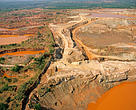 An open cast gold mine at Pocone, Amazon basin, Brazil.
