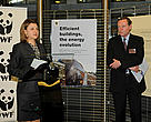 MEP Silvia-Adriana Ticau and Tony Long, director WWF European Policy Office, opening the exhibition.