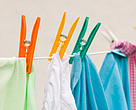 Clothes on a washline