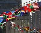 Flags at the UN in New York