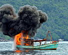 Detonation and sinking of illegal foreign vessels in Indonesia