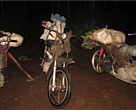 Rangers conducted a random check on a passing motorbike and seized 4 water monitor lizards that were being smuggled.