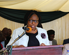 Minister of Environment, Water and Climate speaking at the handover ceremony