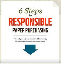 How paper buyers can help reduce the environmental footprint of paper  	© WWF International