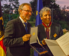 Manule Pulgar-Vidal, leader of WWF's global Climate &  Energy Practice received the prestigeous German Order of Merit from German Ambassador to Peru, Jorg Ranau.