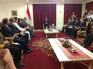 WWF Holds Honorary Delegation to visit the President of Indonesia