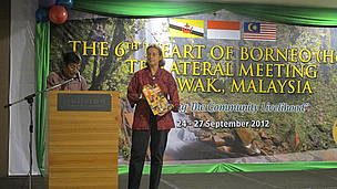 WWF-Malaysia trustee, Jayl Langub, took the stage to formally launch 'The Human Heart of Borneo'