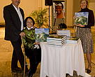 Jürgen Freund, Stella Freund and Cathy, during the launch of the Coral Triangle Photobook launching in Washington DC