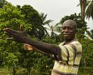 A pilot farmer supported by WWF in the Lac Tumba region