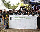 WWF-Kenya staff at Earth Hour exhibition 2016