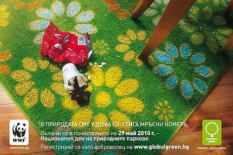 Ad for WWF/Globul 'Clean Up Nature' Campaign 2010 rel=