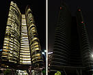 Abu Dhabi Landmarks before and during Earth Hour 2011