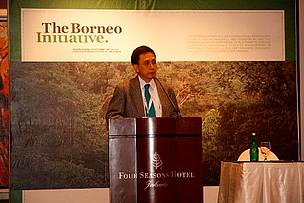 The Head of Indonesia Heart of Borneo Working Group, Dr Andi Novianto, at TBI event on 12-13 June 2012