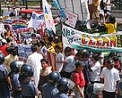 A thousand protesters took to the streets in the city of Cebu to protest against coal power.