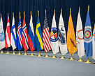 The flags of Arctic Council members, observer states and permanent participants.