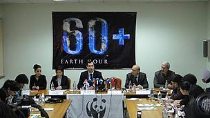 Earth Hour 2012 press conference convened in Yerevan
