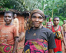 Baka women looking up with hope for a sustainable future