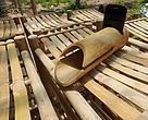 Bambusa's bamboo mobile phone speaker.