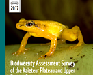 Biodiversity Assessment Survey of the Kaieteur Plateau and Upper Potaro, Guyana