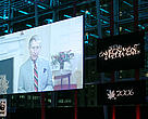 HRH The Prince of Wales excepting a WWF-presented British Environment and Media Award via video.