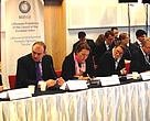 Launch of Initiative for Sustainable Forest Landscapes in Warsaw, Poland at COP19 on November 20, 2013.