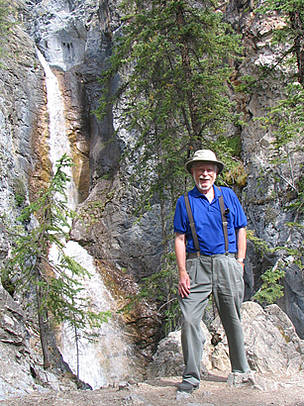 Bob Smith at Silverton Falls, Alberta, Canada.