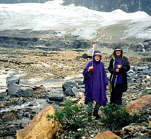 Bob Smith and friend at Emerald Glacier, Yoho National Park Photo, Alberta.