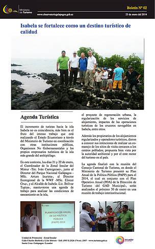 Bolet n ministerio de turismo del ecuador wwf for Ministerio del turismo