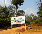 Entrance to Baringa Bek National Park, Cameroon
