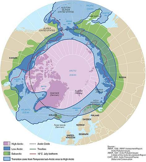 Several definitions of the Arctic as a region exist and are all used extensively. rel=