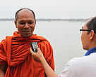 Buddhist monk: Buddhist monks were also asked to describe their roles in raising awareness and leading communities to engage in nature conservation.