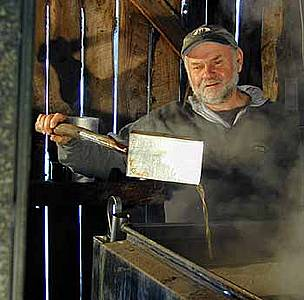 Burr Morse's family have been maple syrup farmers since the late 1700s.