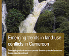 Emerging trends in land-use conflicts in Cameroon Overlapping natural resource permits threaten protected areas and foreign direct investment An ad hoc working paper prepared by Brendan Schwartz (RELUFA), David Hoyle (WWF Cameroon), and Samuel Nguiffo (CED Cameroun)