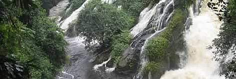 The spectacular Memveele waterfalls, on the edge of Campo-Maan National Park, Buffer zone of ... rel=