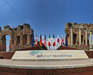 The G7 meeting was held in Taormina, Sicily
