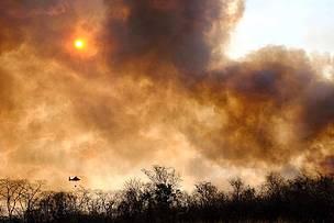 Se reaviva fuego en la Amazonía, la Chiquitanía y el Pantanal