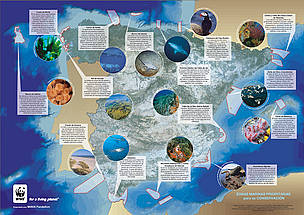 This map identifies locations that are representative of Spain's marine wealth that must legally be ... / ©: WW-Spain