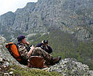 Hikers enjoy the scenery of Bulgaria's Central Balkans National Park.