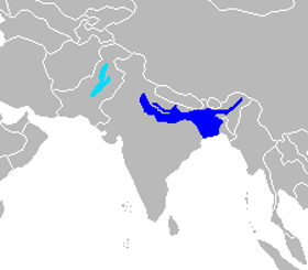 Range of Ganges and Indus river dolphins  	© Wikimedia Commons
