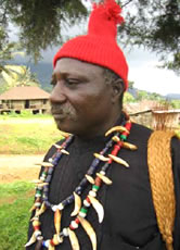 "Chief Nsume-Ngeh of Nyassoso told me he got ""mystical"" powers from Mount Kupe. / ©: WWF-Canon / WWF-CARPO / Peter Ngea"